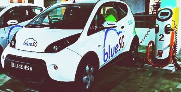 bluesg charging station service electric vehicles